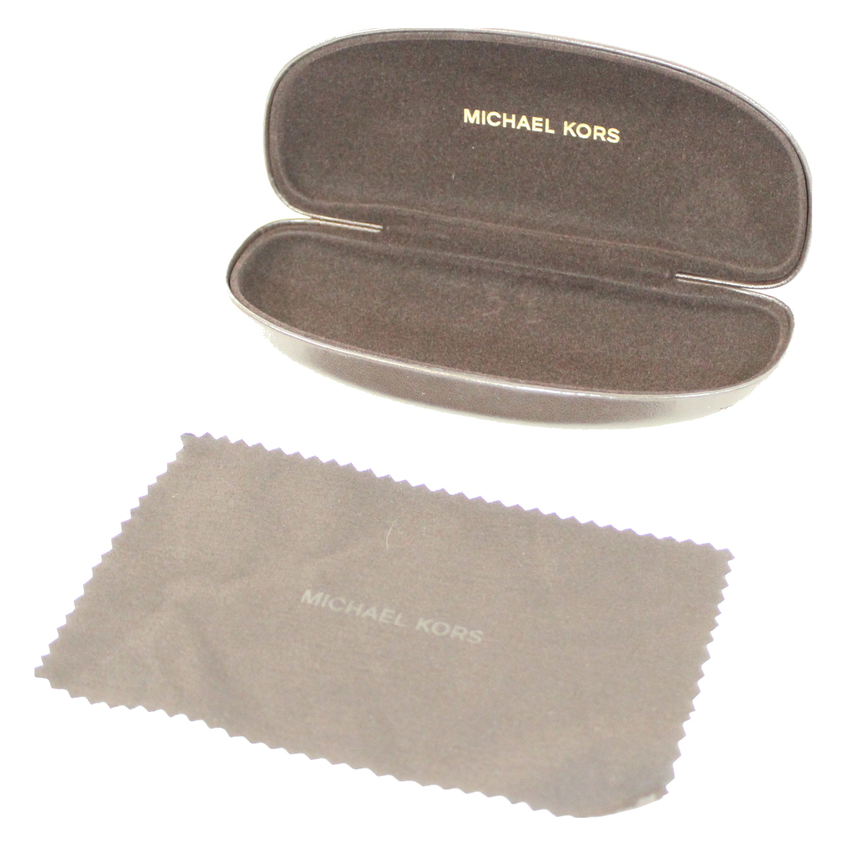 2787cef72a3c Details about Michael Kors hard sunglasses case clamshell box new authentic  brown with cloth